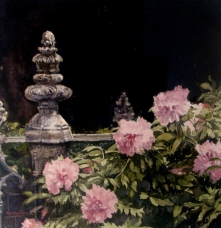 Peonies by the Gate