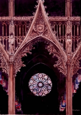 Rose Window through the Rood Screen
